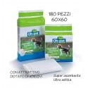 Dettagli su  Tappetini Igienici con adesivi Per Cani e Gatti Traverse oh pet 60x60 180 Pezzi