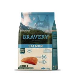 BRAVERY SALMONE MEDIUM/LARGE ADULT 12KG