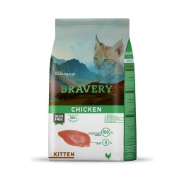 BRAVERY GATTO KITTEN POLLO 400GR