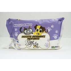 Safety Pet Salviette Detergenti Muschio Bianco