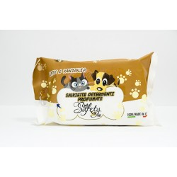 Safety Pet Salviette Detergenti Latte e Vaniglia
