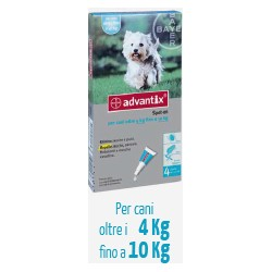 Antiparassitario Advantix Bayer  4-10 Kg