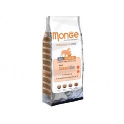 MONGE SALMONE E RISO 3KG SUPER PREMIUM ADULT ALL BREEDS CROCCHETTE PER CANE